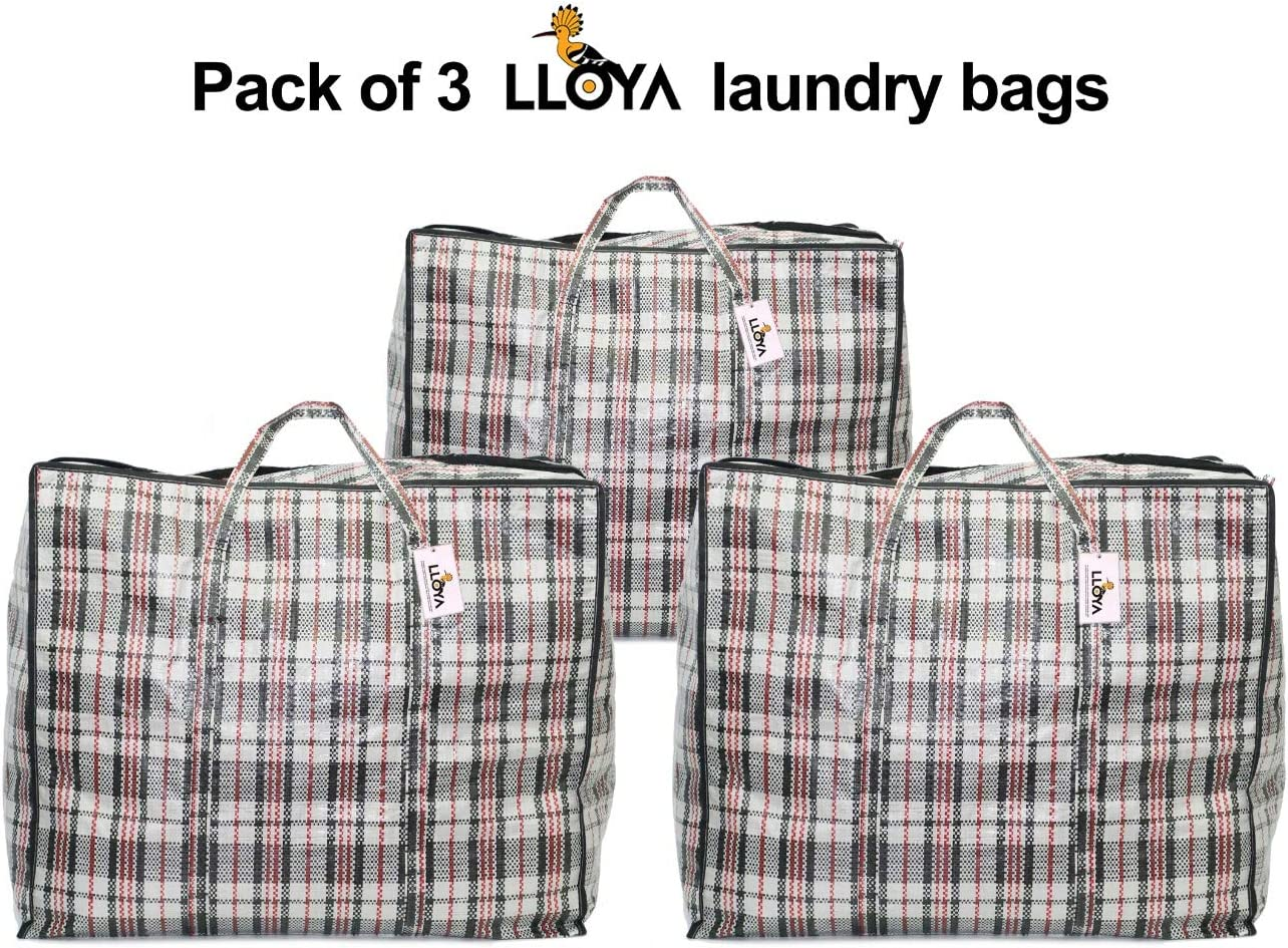 Pack of 3 X LARGE LLOYA Large Laundry Reusable Moving Storage Bag