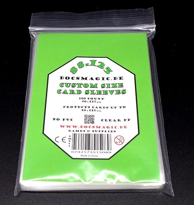 docsmagic.de 100 Tiny Epic Card Sleeves - 88 x 125 mm - Fundas 90 x 127 mm: Amazon.es: Juguetes y juegos