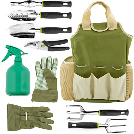 Genial Vremi 9 Piece Garden Tools Set   Gardening Tools With Garden Gloves And  Garden Tote