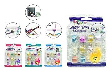 toi-toys - Washi-tape decorativo + dispensador 4 varios figura, 47049z, multicolor: Amazon.es: Juguetes y juegos