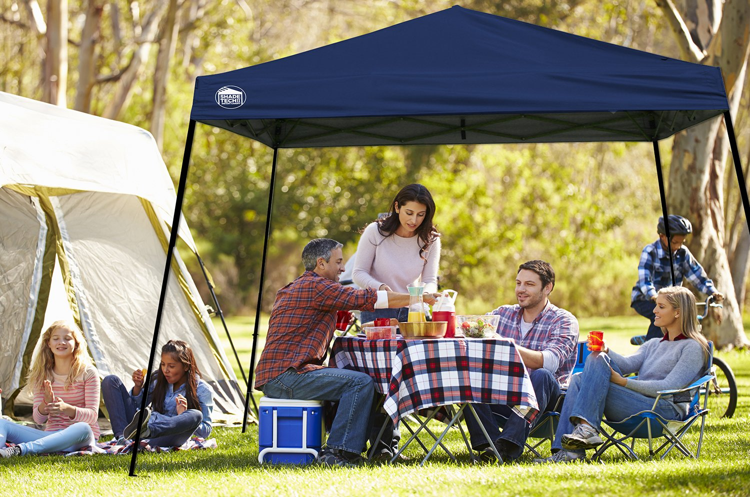 Amazon.com Shade Tech II ST64 10u0027x10u0027 Instant Canopy - Midnight Blue Sports u0026 Outdoors & Amazon.com: Shade Tech II ST64 10u0027x10u0027 Instant Canopy - Midnight ...