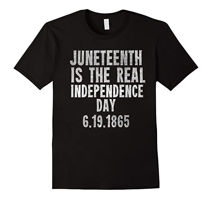 half off 105e3 f89bc Mens Black History TShirt Juneteenth Is the Real Independence Day 2XL Black