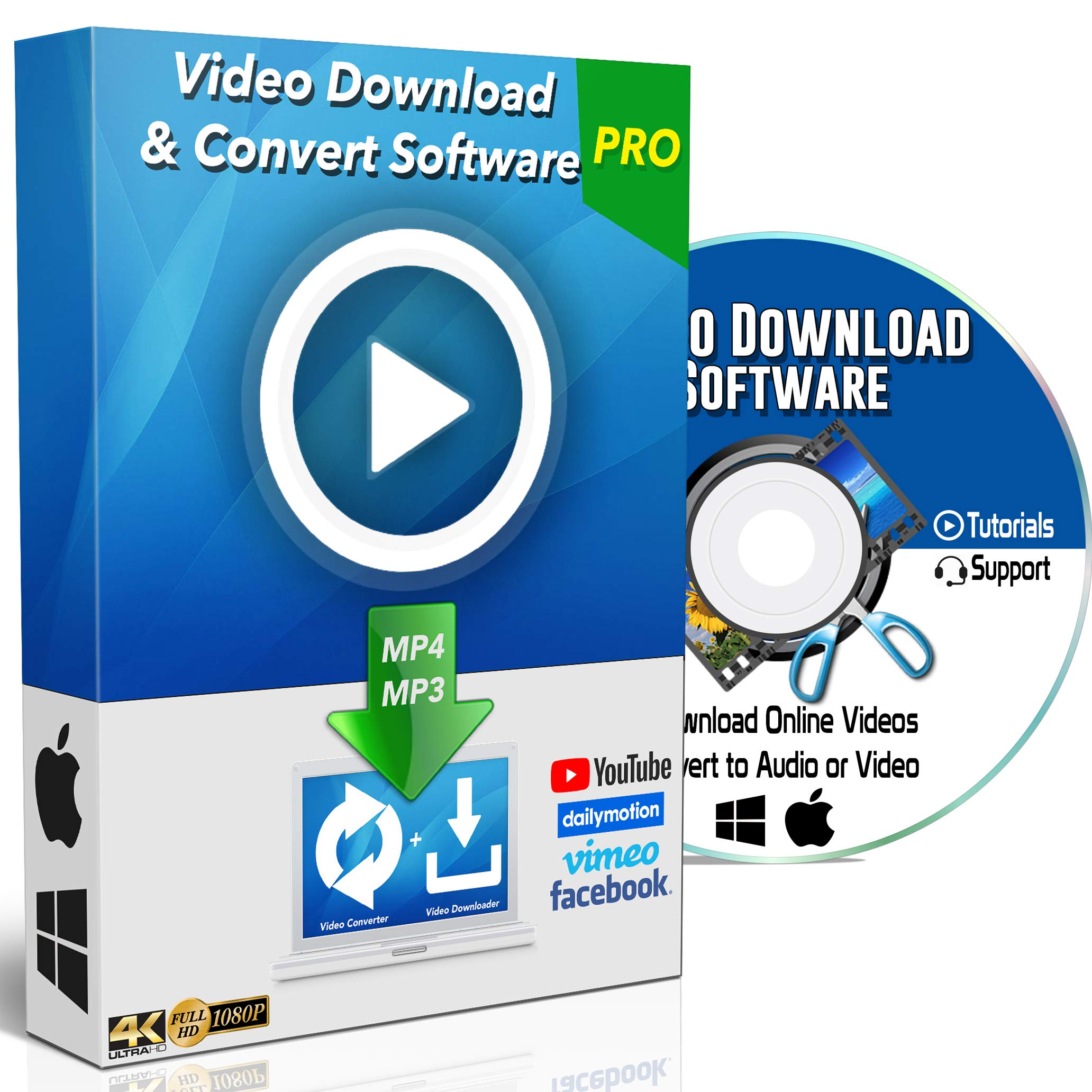 YouTube to MP3 / MP4 Online Video Downloader & Converter Software for Windows PC & Mac Computer Internet Website HD Any Clip Grabber Vimeo Facebook Dailymotion + More by Digital Exchange
