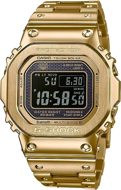 Casio Reloj Digital para Hombre de Cuarzo con Correa en Acero Inoxidable GMW-B5000GD-9ER