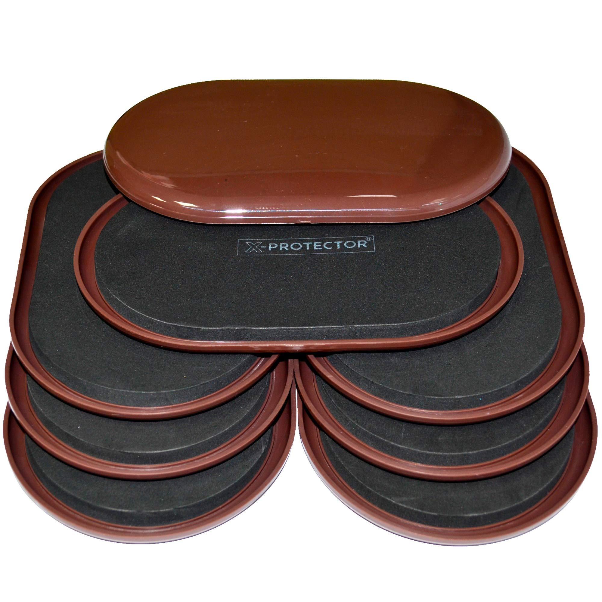 Furniture Sliders for Carpet X-Protector – 8 pcs Heavy Duty 9-1/2'' x 5-3/4'' Furniture Moving Pads - Sliders for Furniture. Move Your Furniture Easy with Reusable Furniture Movers Sliders for Carpets! by X-Protector
