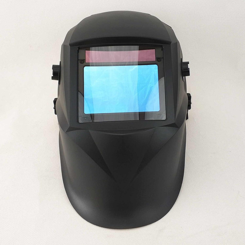 Carbon Fiber 1//1//1//1 PA Body 4 Sensors Solar Power Auto Darkening Full Shade Range DIN 3//4-8//9-13 and Highest Optical Class Welding Helmet 100x65mm Welding Mask Big Viewing Area 3.94x2.56