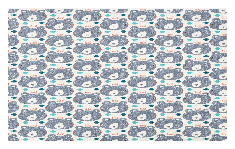 GugeABCmat Home Decor Floor Mats,Fall Season Leaf Pattern with Pastel Curvy Stems Foliage Print,Rug Doormat Bath Kitchen Room Carpet 30'' W X 18'' L,Cream Seafoam and Beige