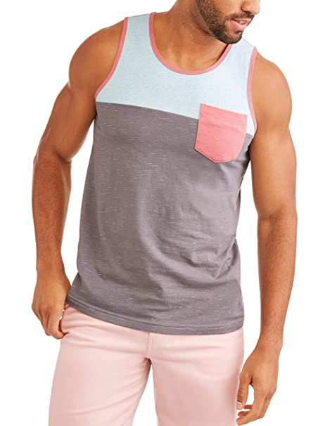 61d76f3a775c0 Amazon.com  George Men s Color Block Tank Top with Pocket (2XL 50 52 ...