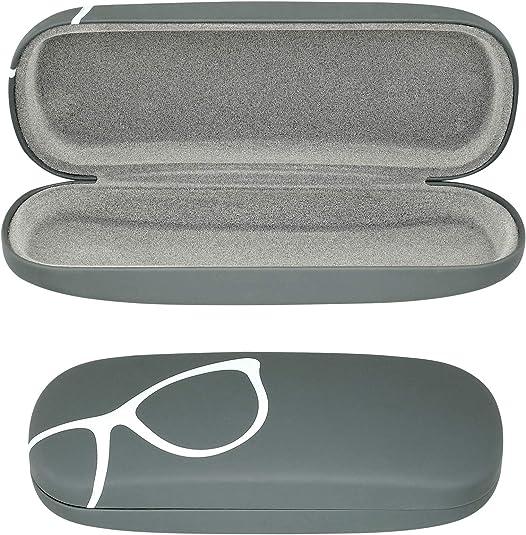Caso de gafas Hard Shell | Estuche de gafas y gafas de sol para hombres, mujeres y niños, Gris (gris (Grey Design)), Medium: Amazon.es: Ropa y accesorios
