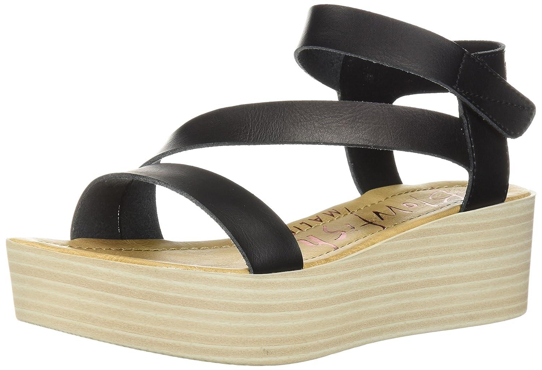 Blowfish Women's Lover Wedge Sandal B0768QBVCM 9 B(M) US|Onyx