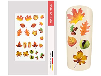 Nailart Tattoo Herbstblatter Amazon De Beauty