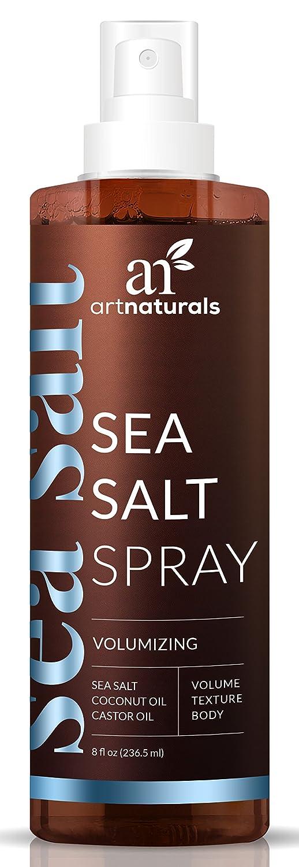 ArtNaturals Sea Salt Hair Spray – (7.4 Fl Oz / 220ml) – Volumizing &Texturizing for Carefree Tousled Styles – Natural Spray That Works for All Hair Types – Sea Salt, Coconut & Castor Oil