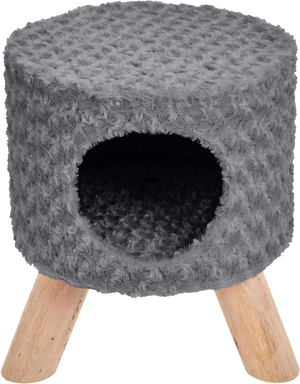 AmazonBasics Indoor Cat Bed Condo Ottoman