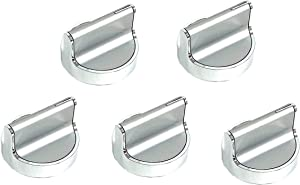 5x W10594481 Knob Stainless Steel Stove Control Knob Replacement for Whirlpool Stove/Range WPW10594481, W10594481, W10698166