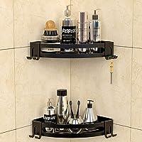 GeekDigg 2 Pack Corner Shower Caddy, Adhesive Bathroom Shelf Wall Mounted with Razor Holder, No Drilling Kitchen Racks…