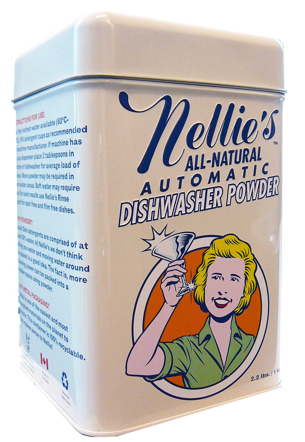 Nellie's Dishwasher Powder - 2.2lbs (80 Scoops)
