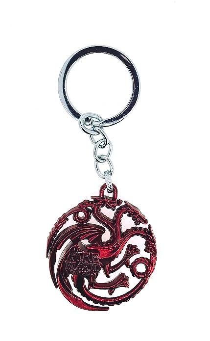 Gemelolandia Llavero Juego de Tronos Casa Targaryen Rojo 3D ...