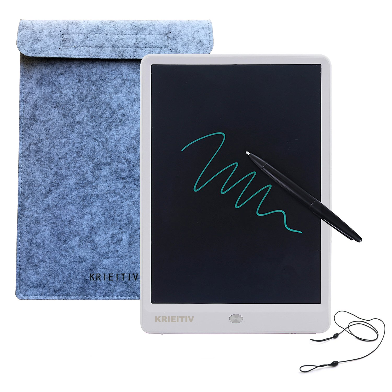 10 inch LCD Writing Tablet,KRIEITIV 10 inch LCD Drawing Board Message Board Handwriting Pad E-Write Drawing Graffiti Board with Stylus for Kids, Family Memo, Office Writing (White) DOIT