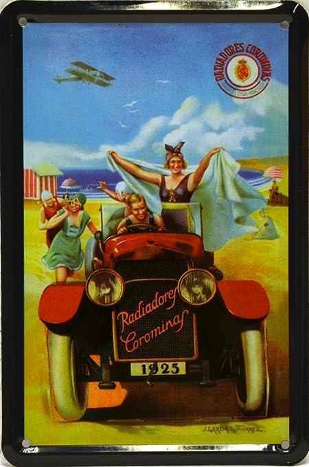 Art Escudellers Imán Cartel Poster publicitario de chapa metálica con diseño retro vintage de Catalunya/