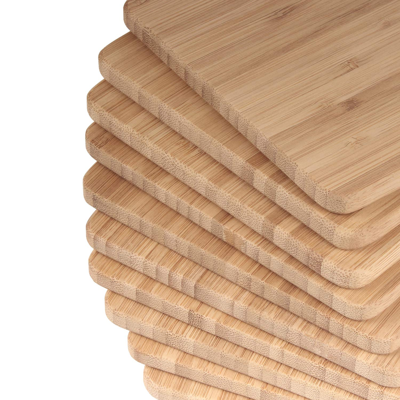BambooMN Brand - Bulk Wholesale Premium Bamboo Cheese Board - 7.9'' x 5.5'' x 0.4'' - 100 pcs by BambooMN (Image #2)