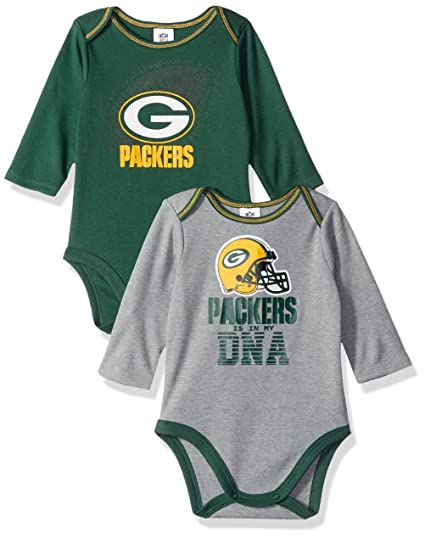 Amazon Com Nfl Green Bay Packers Unisex Baby 2 Pack Long Sleeve