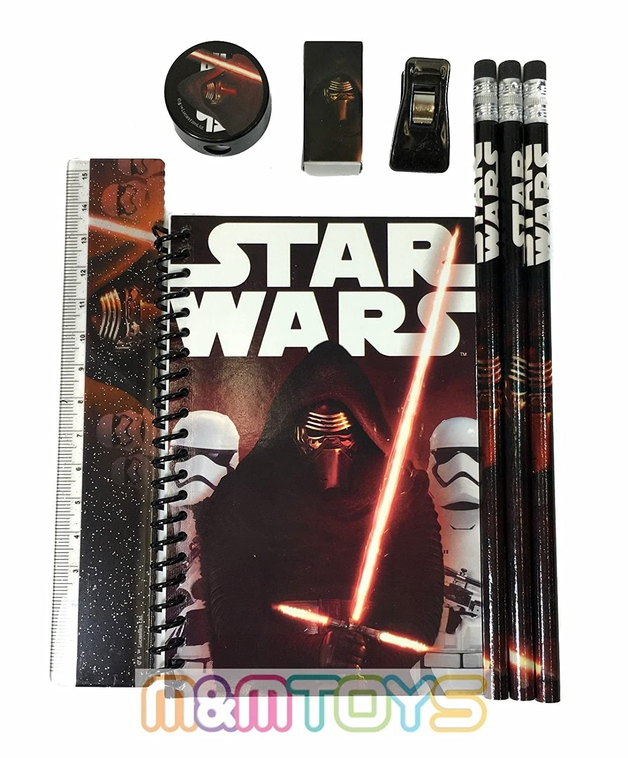 Black Disney Star Wars The Force Awaken Kylos Ren Stationary Kit