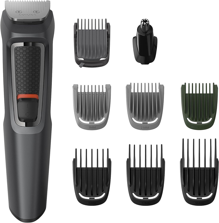 Philips MULTIGROOM Series 3000 MG3747/13 cortadora de pelo y maquinilla Negro Recargable - Afeitadora (Negro, Rectángulo, Barba, Oído, Ceja, Moustache, Nariz, Acero inoxidable, 70 min, Integrado)