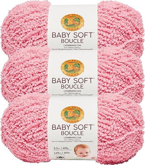 White Lion Brand Yarn 918-100 Baby Soft Boucle Yarn