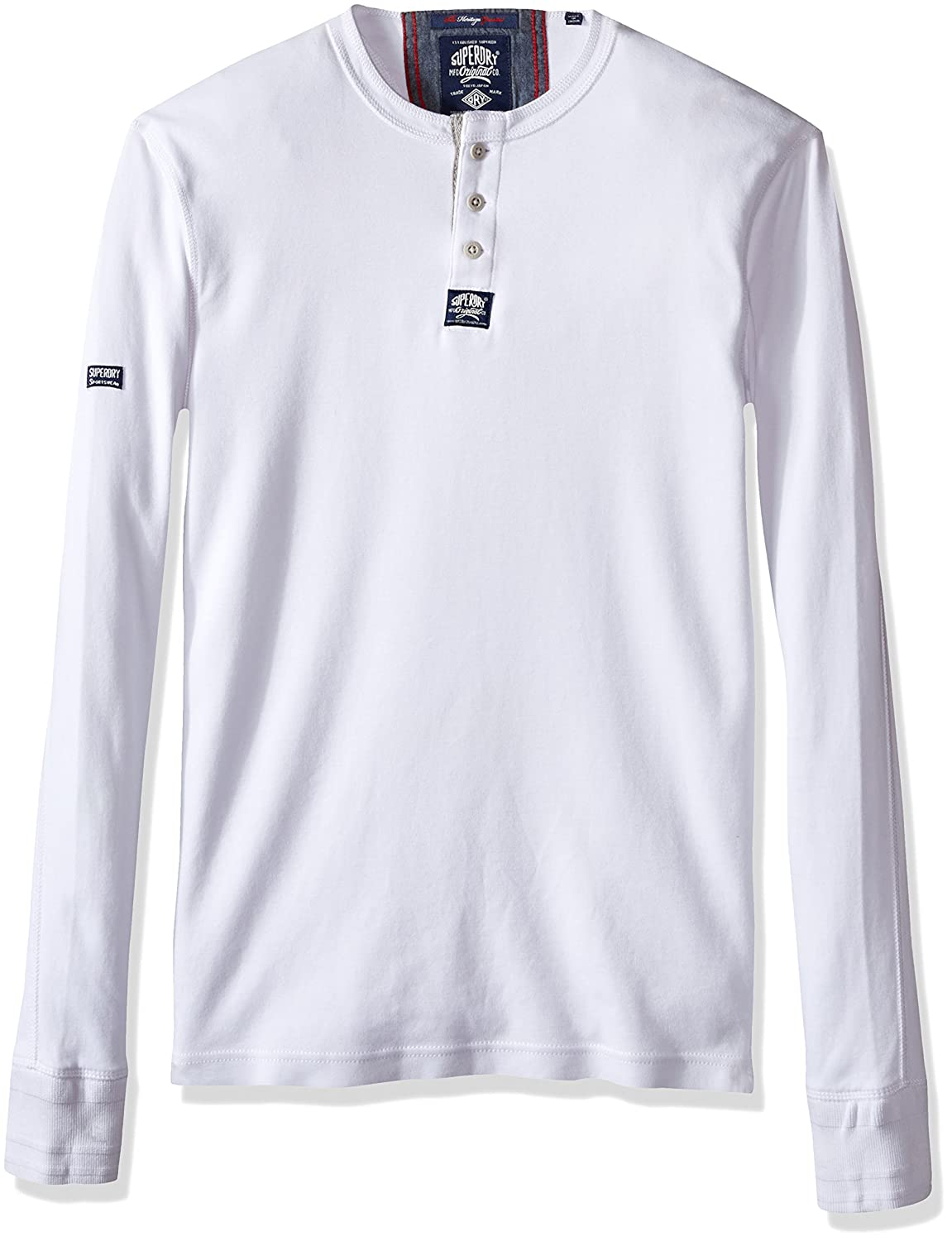 ed306967f26d Amazon.com  Superdry Men s Heritage Henley Top  Sports   Outdoors