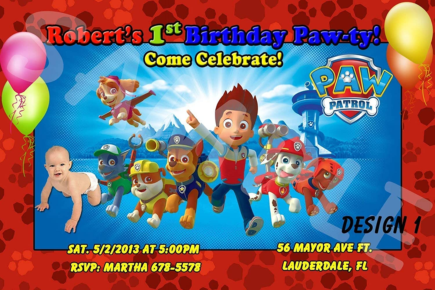 Paw Patrol Personalized Birthday Invitations More Designs Inside