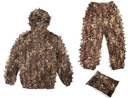 Amazon.com: Ghillie - Traje para adulto con diseño de hojas ...