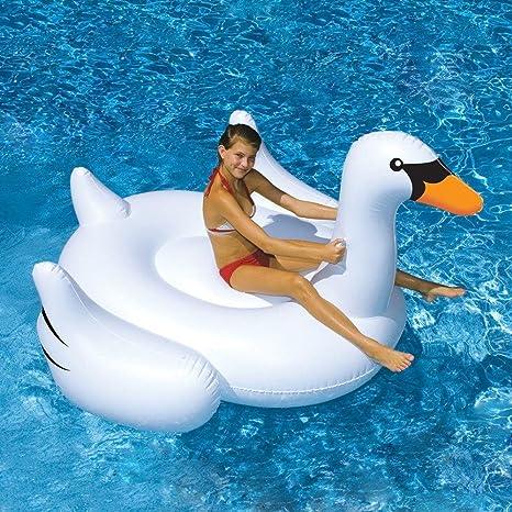 Yingtan Blanco Yingtan Nuevo Verano El Lago Natación Piscina Salón Kid Rideable Gigante Cisne Flotador Hinchable