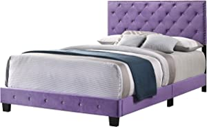 Glory Furniture Suffolk , Burgundy Full Bed, 48