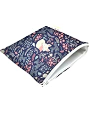 Itzy Ritzy Happens Reusable Snack and Everything Bag, Fox Hollow, blue
