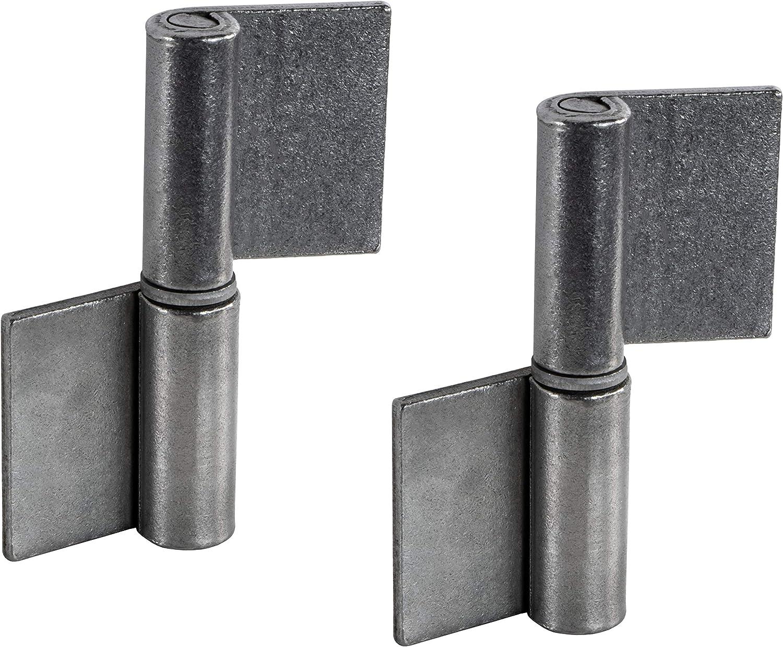 Cerniera per porte in metallo per cancello da giardino e macchinari Gedotec 2 pezzi per porte in acciaio e veicoli