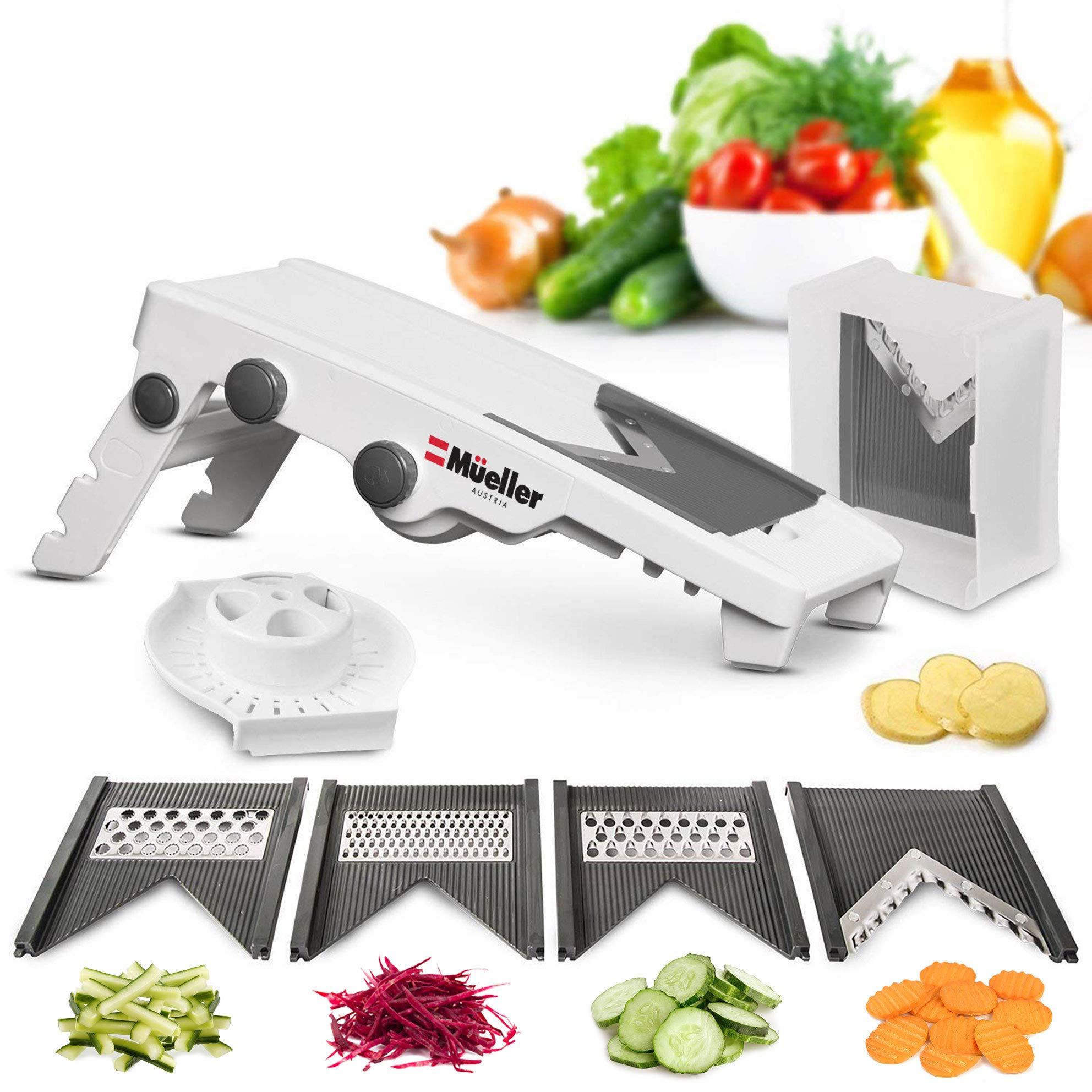 Mueller Austria V-Pro Multi Blade Adjustable Mandoline Slicer and Vegetable Julienner with Precise Maximum Adjustability