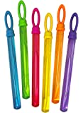Little Kids FUBBLES Bubble Wand Party Pack (6-Pack), Yellow/Blue/Pink/Green/Orange/Purple