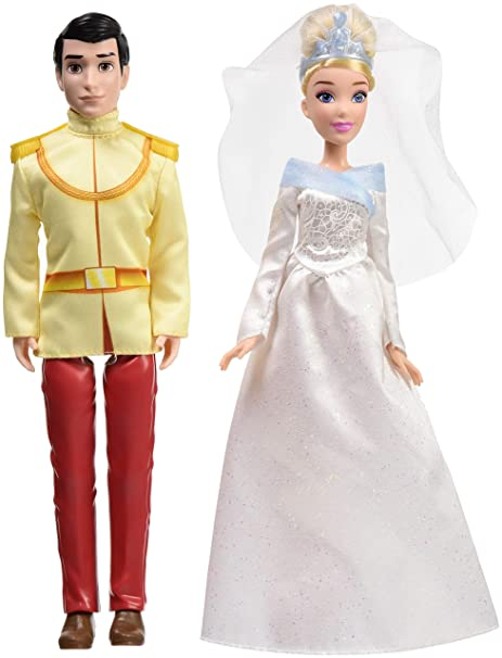 Disney Princess Cinderella And Prince Charming 2 Fashion Dolls From Movie Doll In