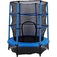 Trampoline kinderen tuintrampoline Ø 140 cm kindertrampoline met veiligheidsnet tot 50 kg belastbaar voor binnen en…