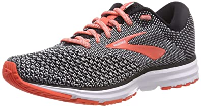 a47da36b2eb Brooks Women s Revel 2 Black Light Grey Coral 5 ...