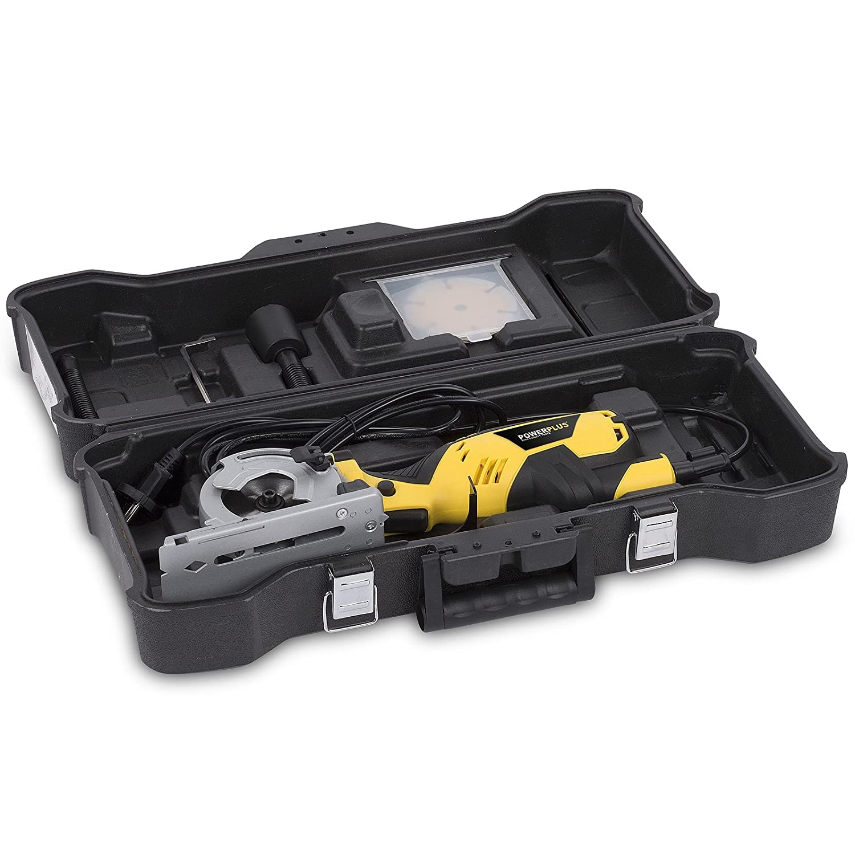 Powerplus Tauchs/äge 600 Watt inkl 3 S/ägebl/ätter im Koffer