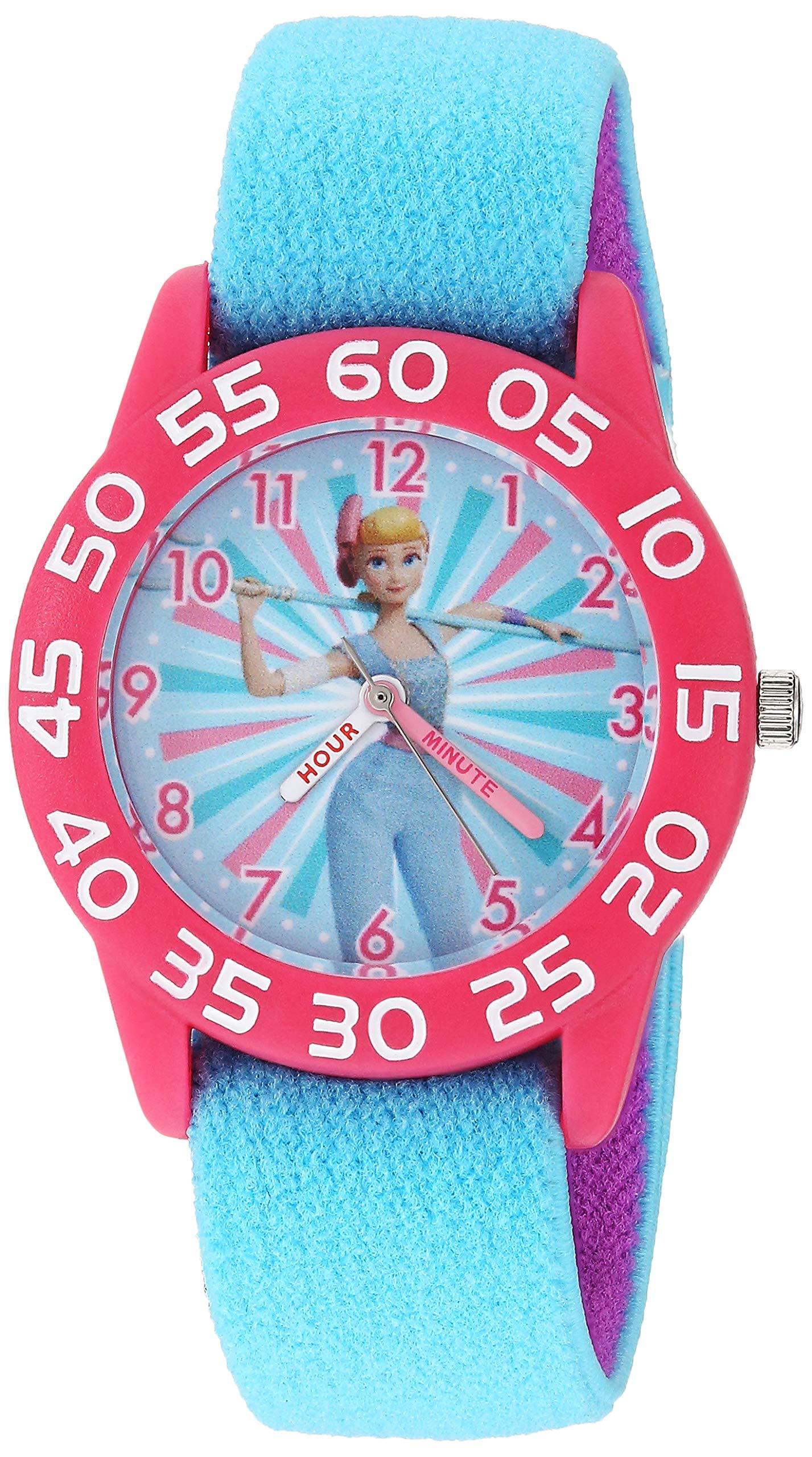 Disney Girls Toy Story 4 Analog-Quartz Watch with Nylon Strap, Blue, 16 (Model: WDS000700) by Disney