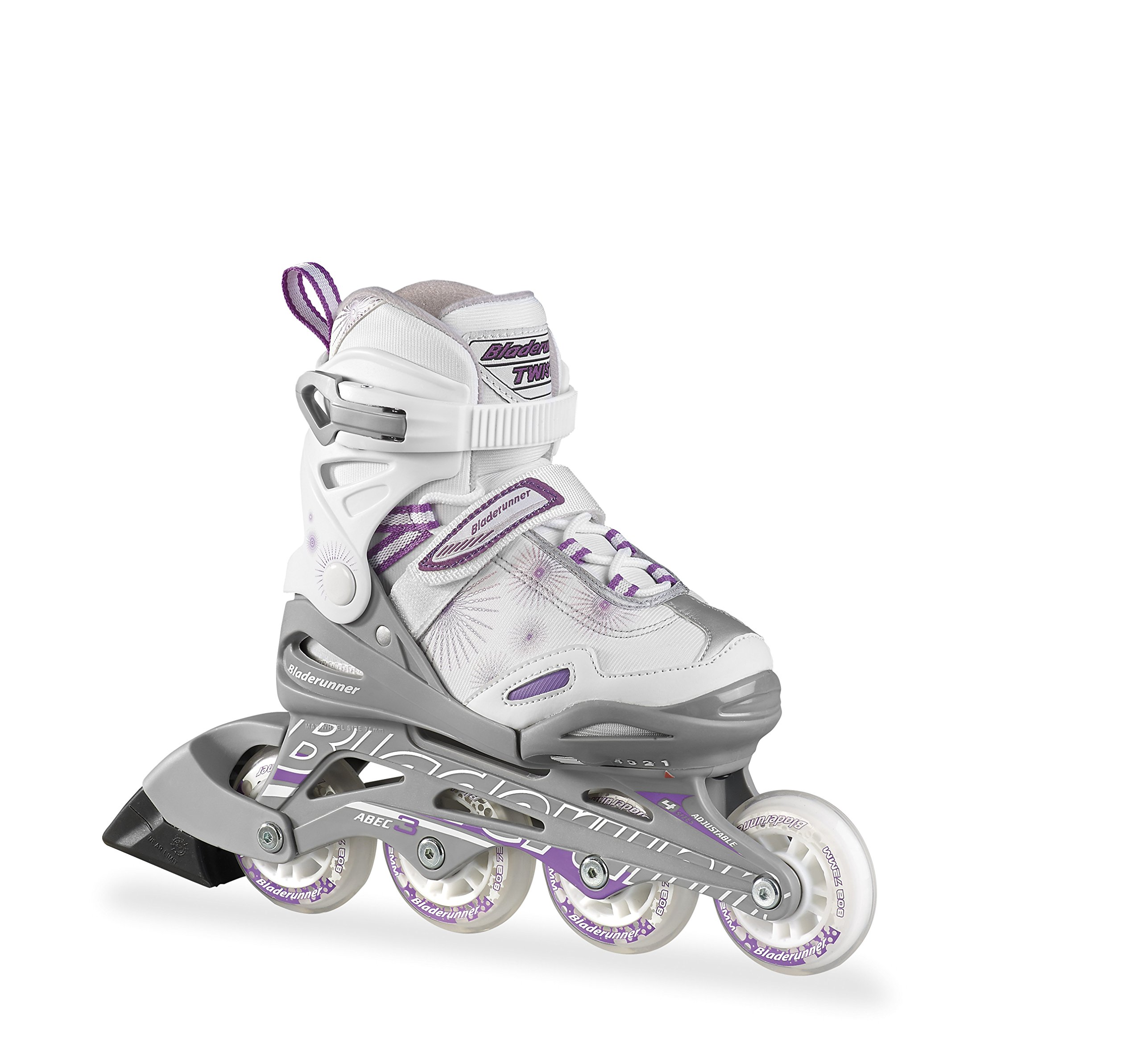 Bladerunner Twist Girls Junior Adjustable Skate, Silver, Size 1-4