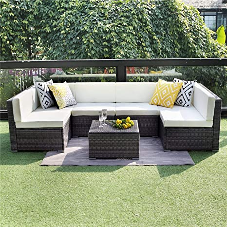 Al aire libre muebles de jardín de ratán de jardín césped ...