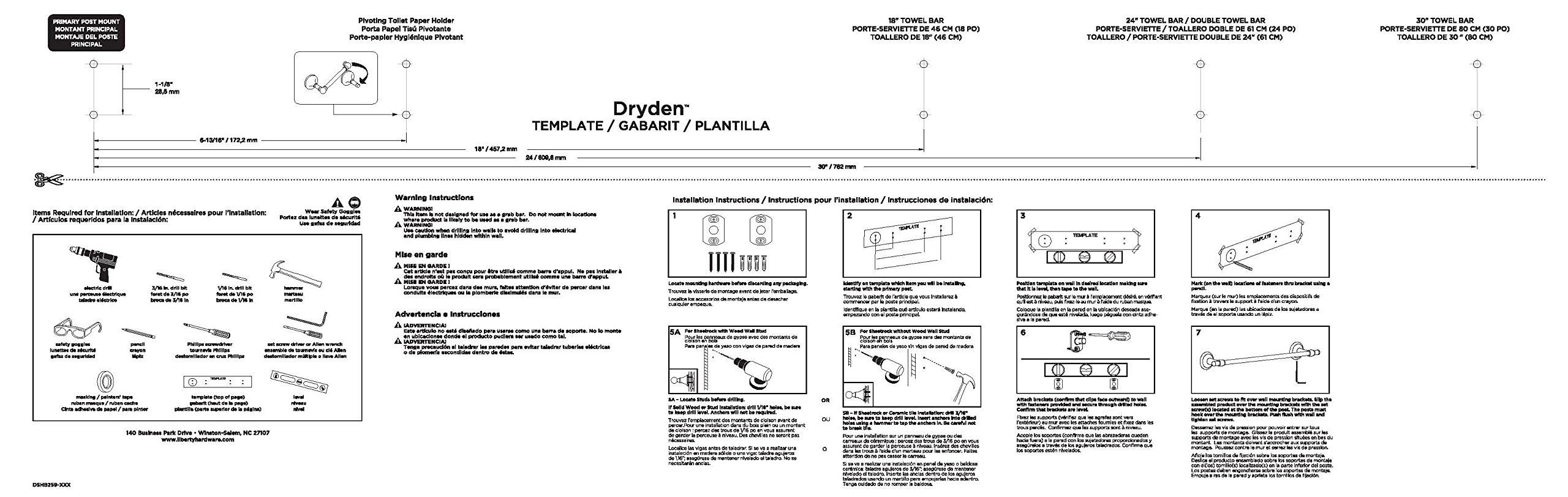 Delta Faucet 75125-RB Dryden 24'' Double Towel Bar, SpotShield Venetian Bronze by DELTA FAUCET (Image #3)
