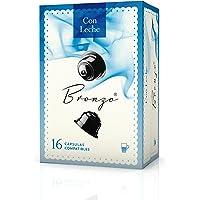 Bronzo Cápsulas Compatibles Café con Leche - 6 Paquetes de 288 gr - Total: 1728 gr