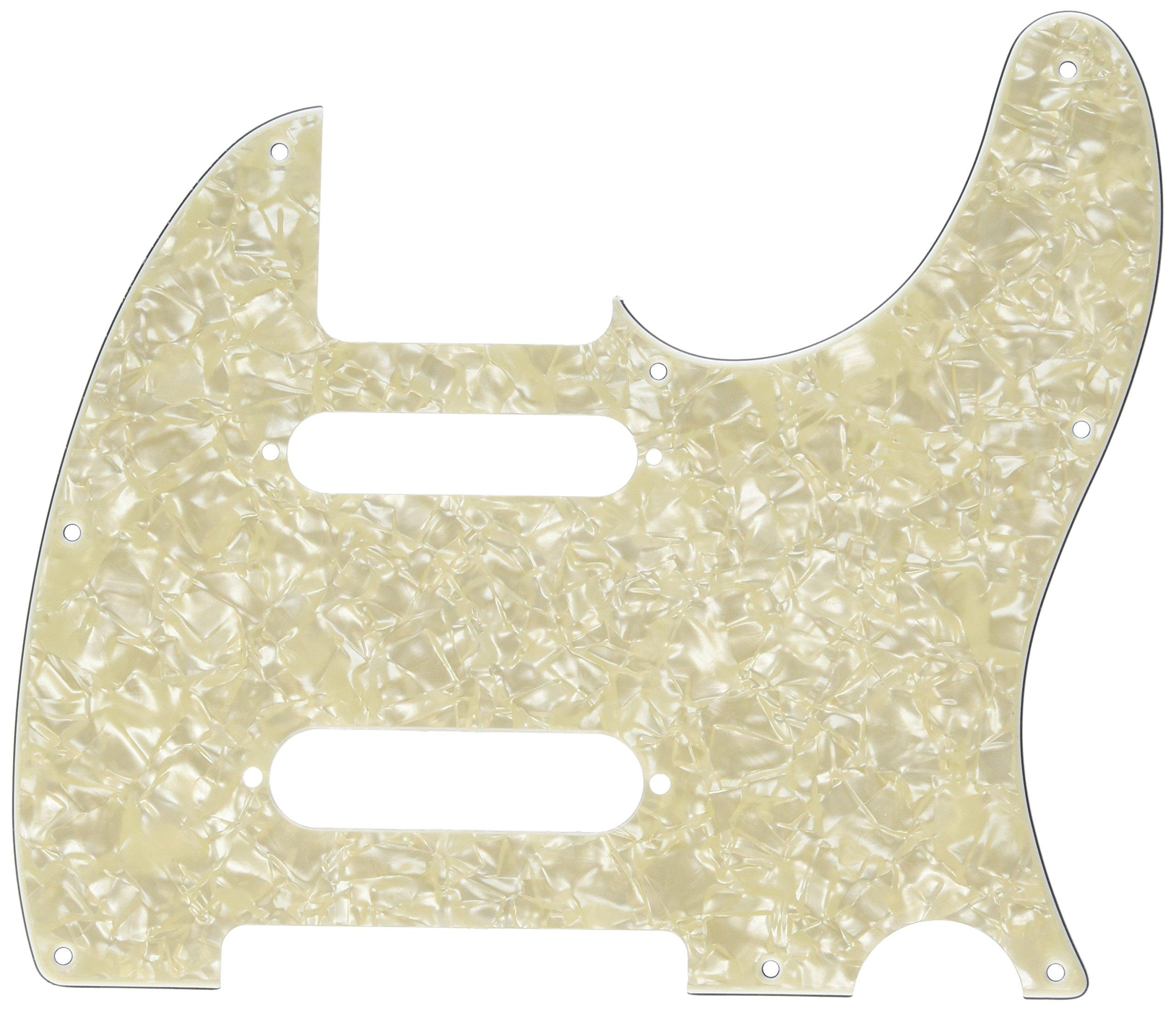 Fender Modern Pickguard, Deluxe Nashville Telecaster, 8-Hole - White Moto