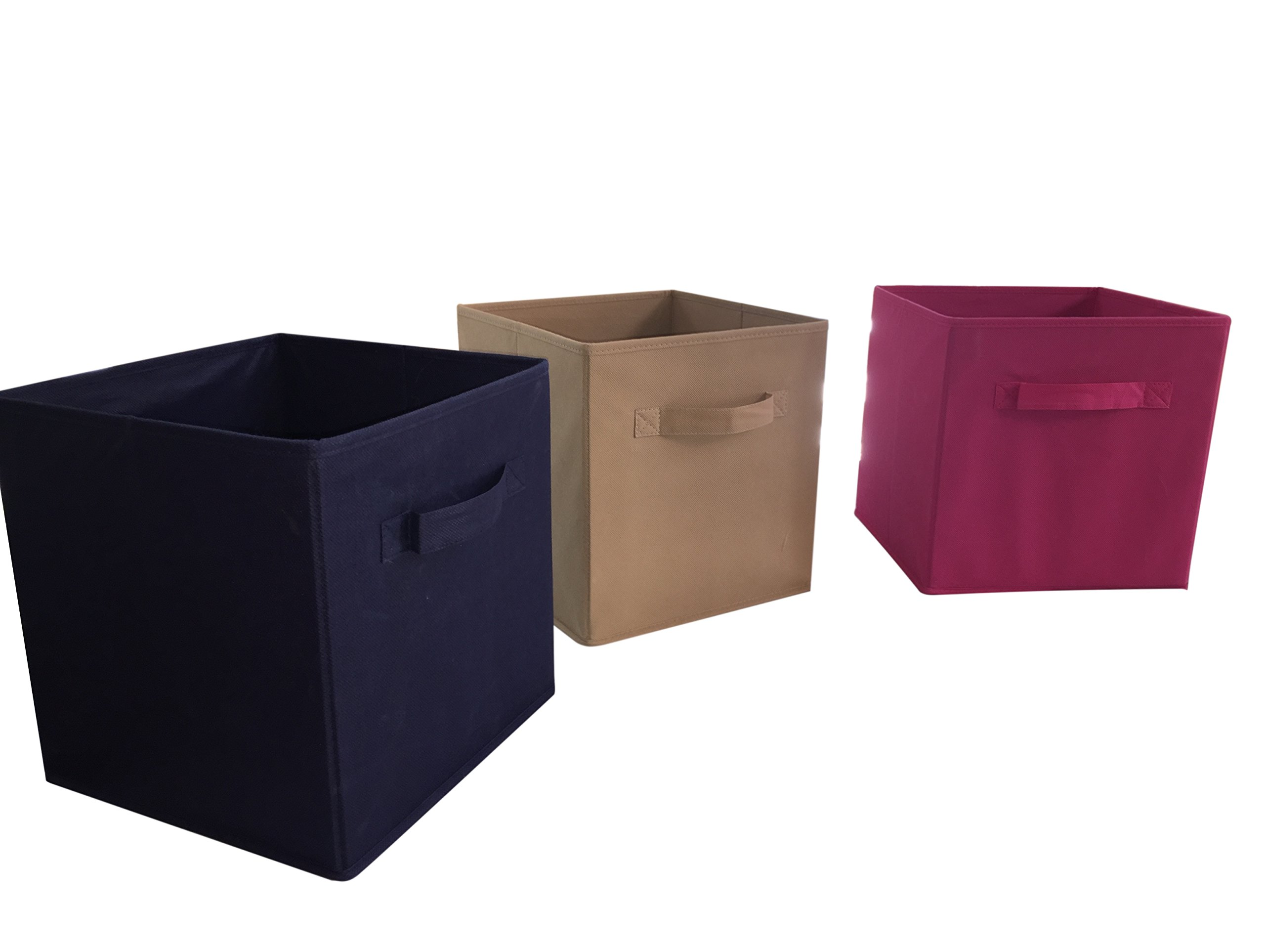 Brown Soft Sided Storage Boxes – 6 Pack Made of Durable Fabric to Last a Lifetime Great for Home Office or Apartment. These work well in Kitchens, Living Rooms, Laundry and Dorm Rooms