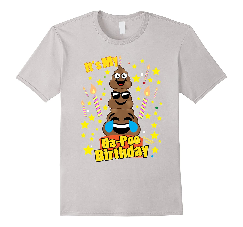 Poop Emoji Birthday Shirts Kids Its My Ha Poo Birthday Cake Bgtee