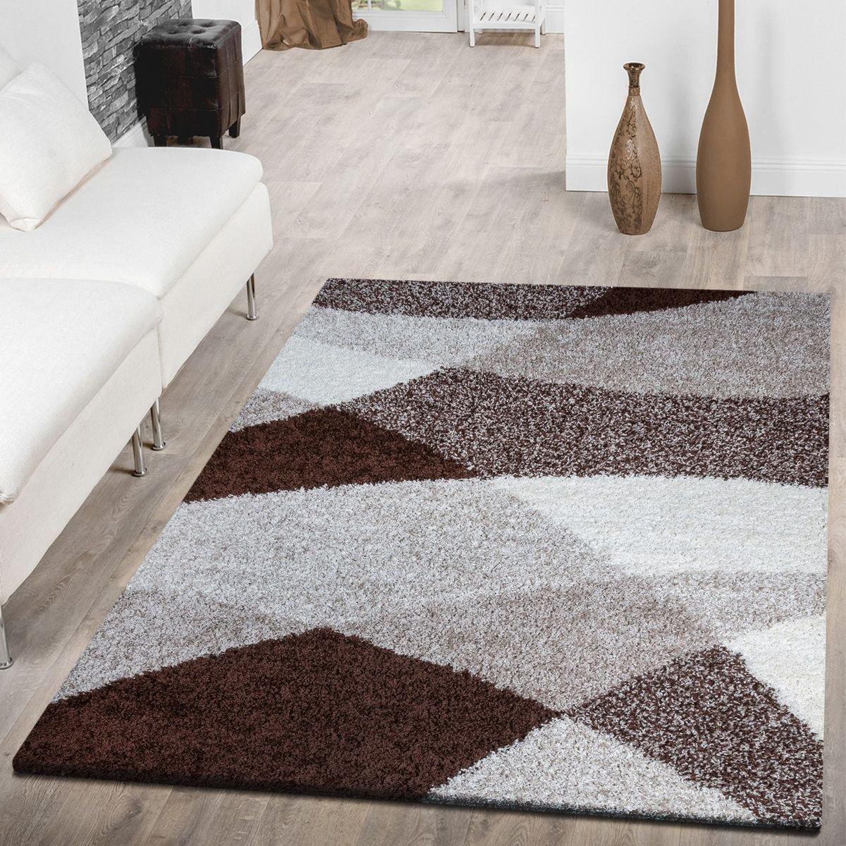 T&T Design Shaggy Shaggy Shaggy Teppich Hochflor Moderne Teppiche Geometrisch Gemustert in versch. Farben, Größe 200x280 cm, Farbe grau B076FCWDTH Teppiche 4f71e3